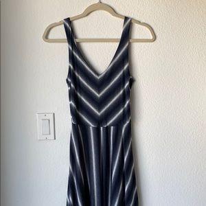 Puella Anthropologie striped maxi dress XS